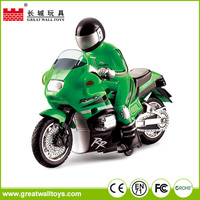 The popular and kids mini electric plastic rc motorcycle with light