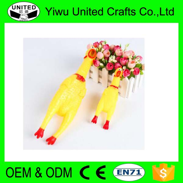 Wholesale Shrilling Screaming Chicken Squeaky Chicken Dog Toy