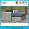 Hot Sale Outdoor Garden Synthetic Rattan Single Sofa Bed