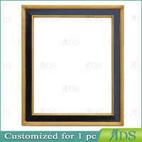 photo picture frame ADS010024 gold/black wood frame
