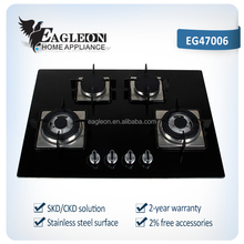Glass surface gas hob 4 burner with ALUMINUM pipe 01