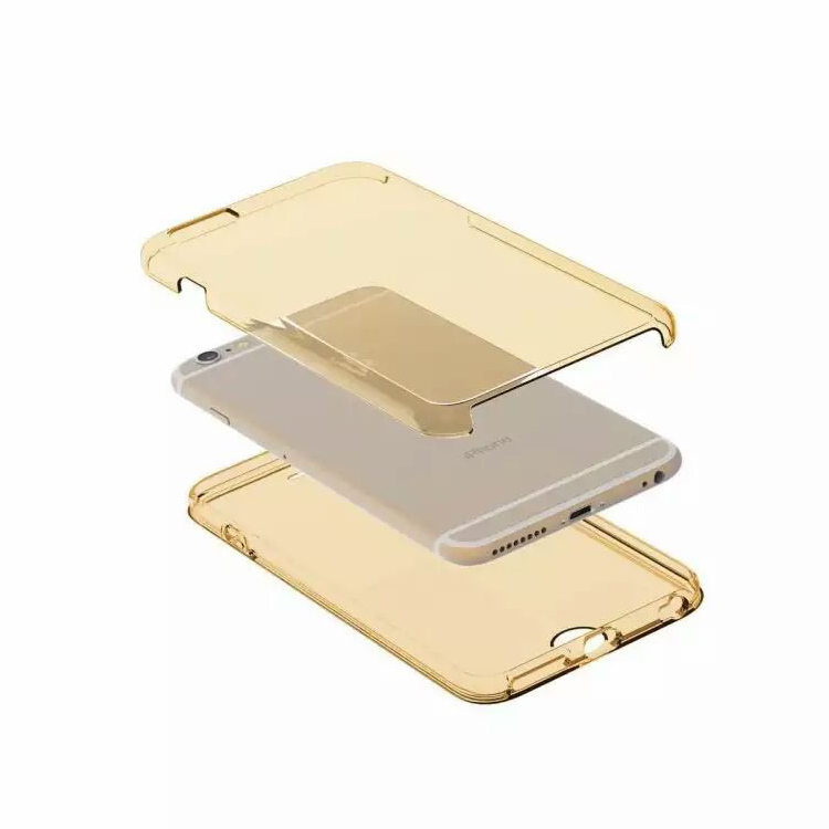 Mobile Phone Accessories Guangzhou ! 360 Degree Hard PC Clear Back Cover TPU Case with Touch Screen Film for Motorola G4 Plus