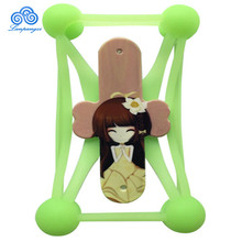 Cute Girl Universal Silicone Phone Holder Soft Silicon Phone Cases Cover