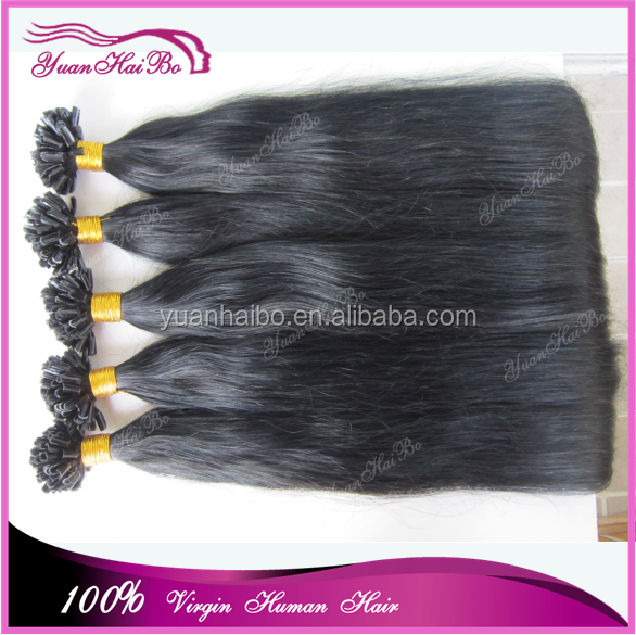Direct Factory Wholesale Double Drawn Thick Bottom Unprocessed Prebonded Human Hair italian keratin hair extensions