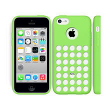 hot sell 6 colorful dots hole slim silicone soft tpu case for apple iphone 5c