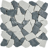 Lander Stone white and black marble mosaic tile pebble stone for outdoors