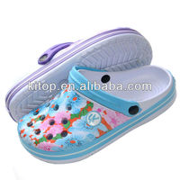 2013 south america lady clog sandals with printing