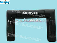 Black race sport direction theme of entrance welcome arrivee inflatable pvc arch Sunjoy Inflatables