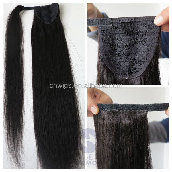 100% virgin human unprocessed top quality ponytail hair extension for black women
