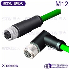IEC 61076-2-109 M12 X coding ethernet cable connector IP68 waterproof connector