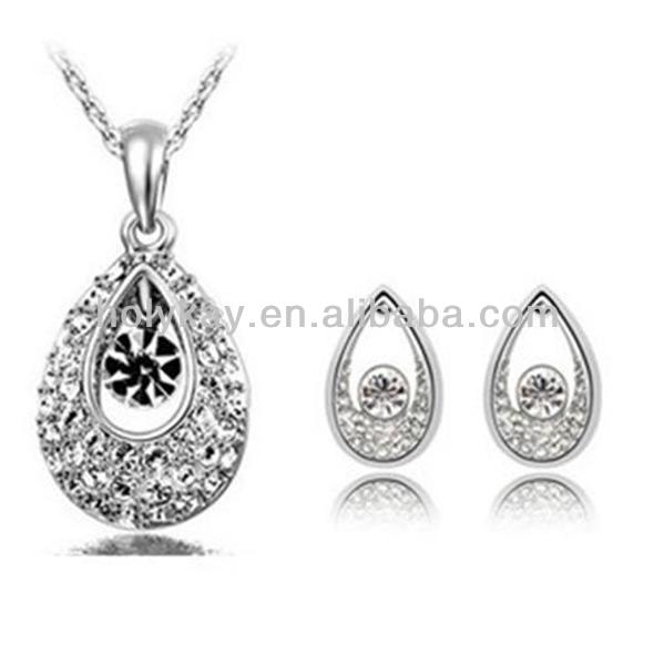 wholesale indian jewelry crystal necklace set WITH ail express
