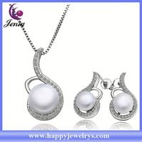 Fashionable design high quality gold plated pearl indian bridal jewelry sets online PLS027