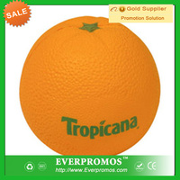 Fruit Food series Orange stress ball with Logo for promotion