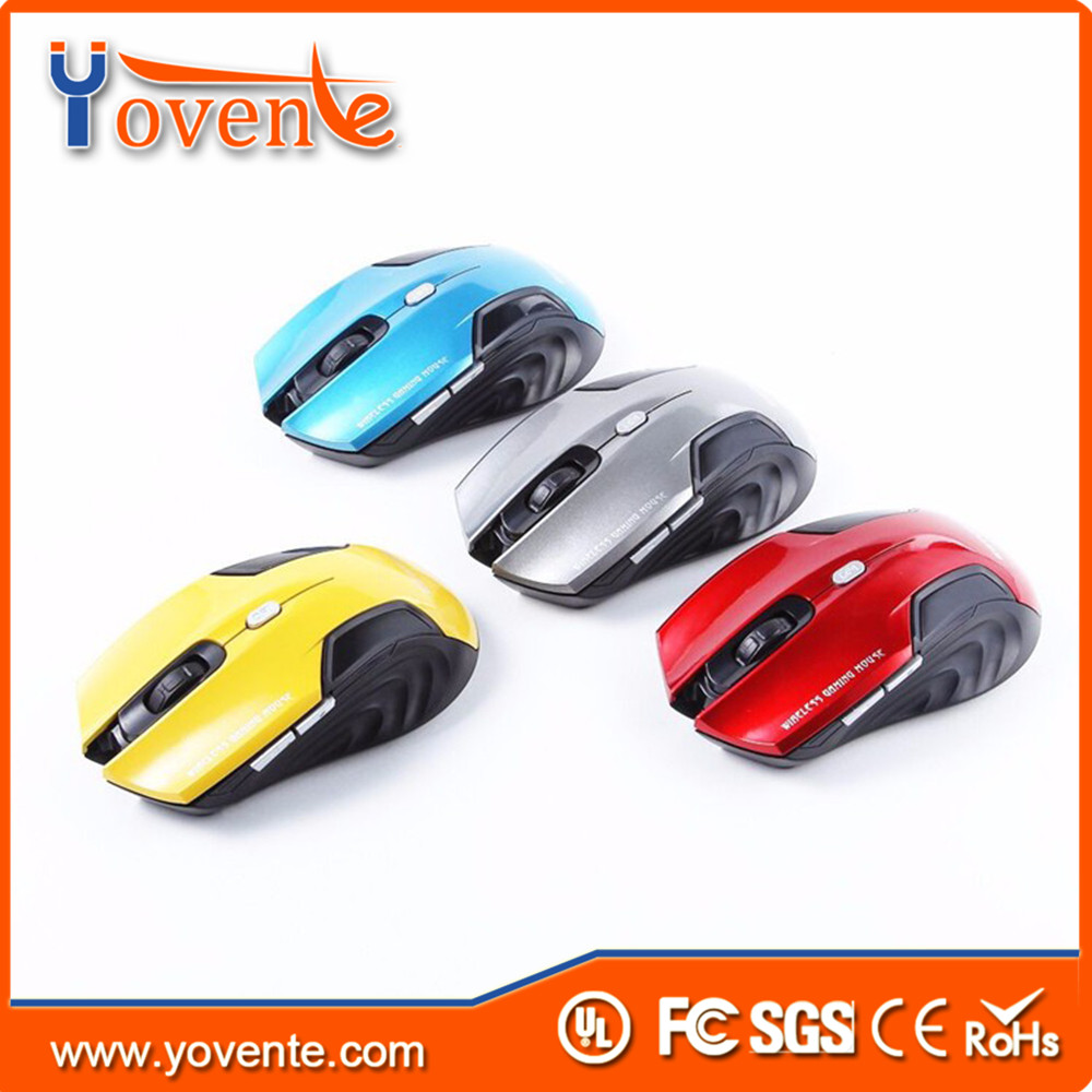 Yovente Estone E-1500 2.4GHz Wireless Mouse 6 Buttons Adjustable DPI 1600DPI Optical Computer Mause Mice for Laptop PC 4 Color
