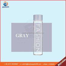 Fashion 500ml grey similar voss style mineral water glass bottle with screw plastic cap