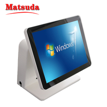 2017 OEM POS Manufacturer Multilanguage 15 inch Dual Screen All in One Android POS system