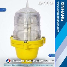 Shock resistant single low intensity led aviation obstruction light