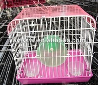 Durable Pink Hamster Cages With Drinker