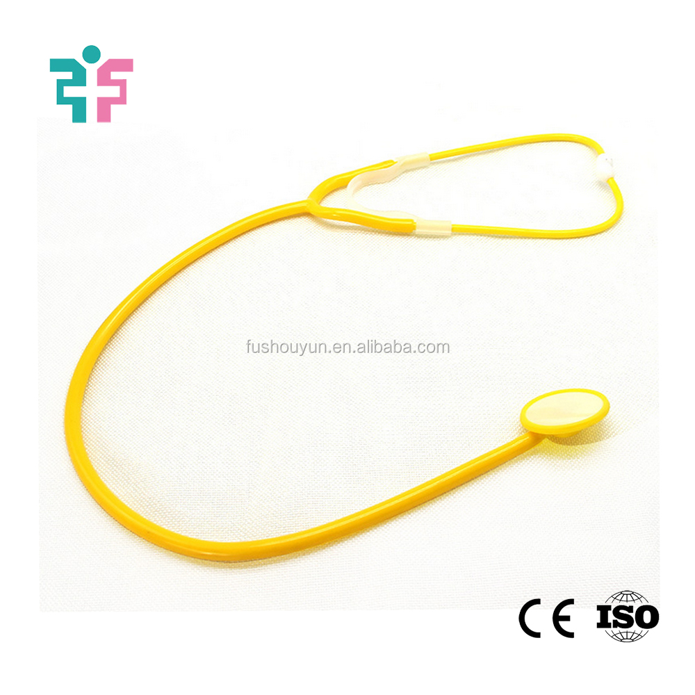 for children play teaching use single head colorful cheap price plastic toy stethoscope