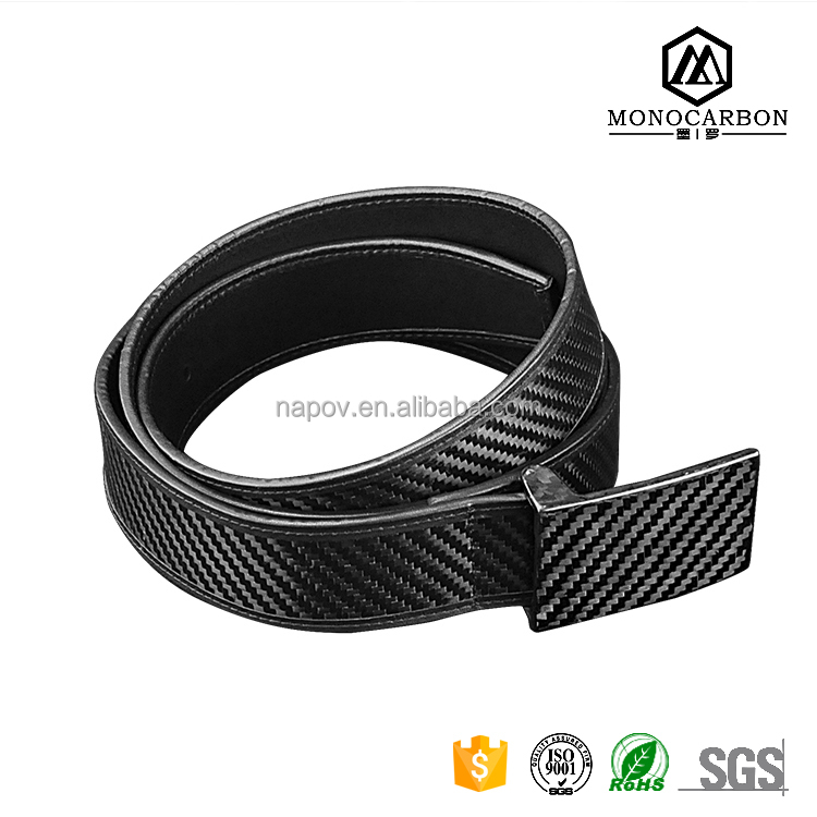 Luxury Light Belts for Real Carbon Fiber Leather Men Belts Utility Leather Belt Suit Mens Hot Sale in China