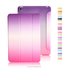 Manufactory Factory Price Magnetic Rainbow Flip Cover Smart Case for iPad mini 4