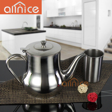 ALLNICE wholsesale resturant large capacity 13-70ML stainless steel cool water kettle/tea pot with lid and handle