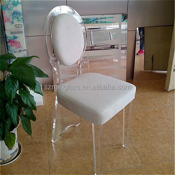 high quality acrylic chair, lucite wedding chair with comfortable cushion