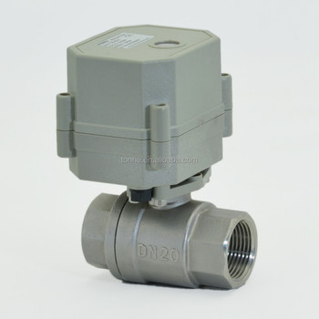 "3/4"" High Voltage (AC110v-240v) Electric Ball Valve with CE (T20-S2-C)"