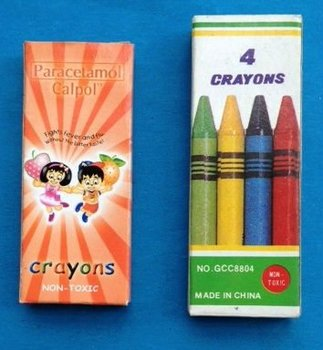 4 color wax crayon