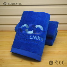 High quality strong absorbent embroidered thick cotton sport towel