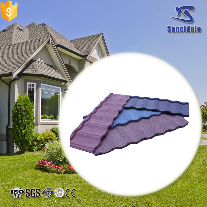 Chinese produced stone-coated metal roof tiles