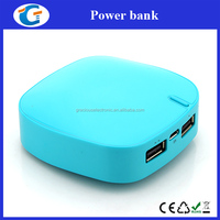 Innovative corporate gifts dual usb power bank for digital camera