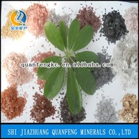 QF factory Muscovite Mica/Mica Powder/Flakes golden mica for decoration