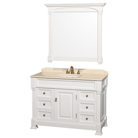 White Solid Wood Floor Mounted Closeout Bathroom Vanities