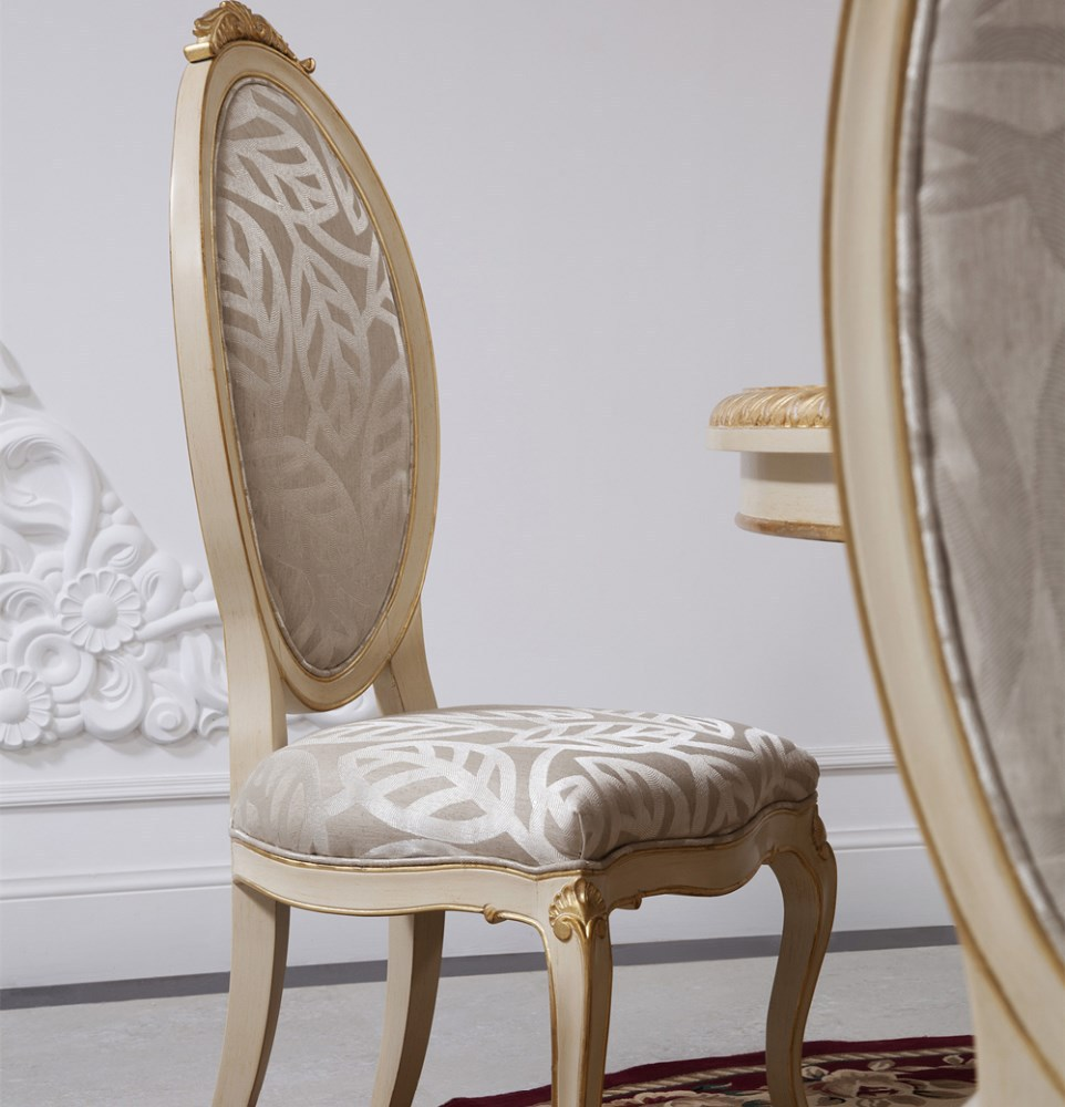 Wood carved dinning chair antique carved back chair white dining chair