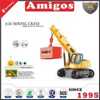 toy brand 1:36 4 channel rc moving crane with 270 rotation/battery and USB charging cable hot engineering truck