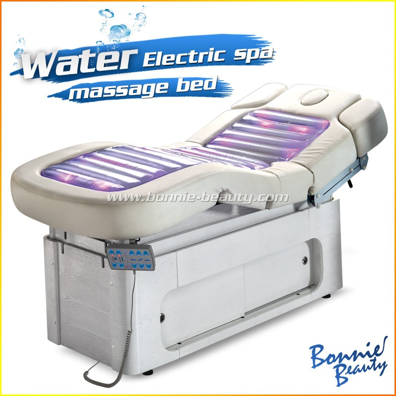 Electric solid wood heated water bed massage table