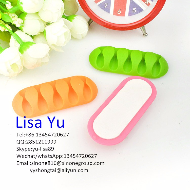 Boomray 6x Smart Wire Cable Clips Scattered 923 High Quality Customized printed Wires Organizer Cable Winder