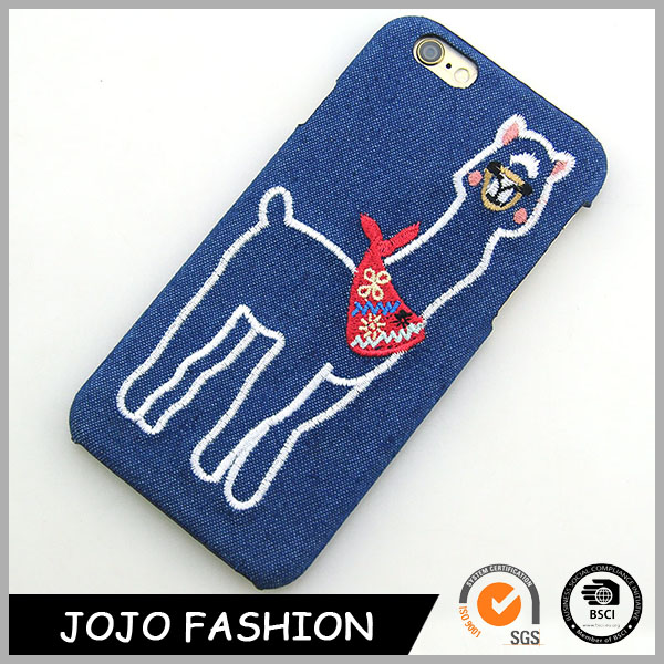Animal Shape Jewelry Jean Phone Cover Phone Case With embroidery