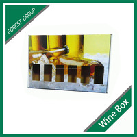 PRINTED FOLDING SHIPPING CORRUGATED PAPER WINE BOX