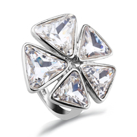 OUXI Jewelry Best Selling 925 Silver Diamond Ring