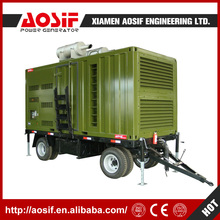 Green portable electric mobile trailer generators