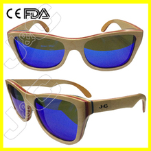 100% most fashion earphone mp3 sunglasses with uv400 polarized lens bamboo case