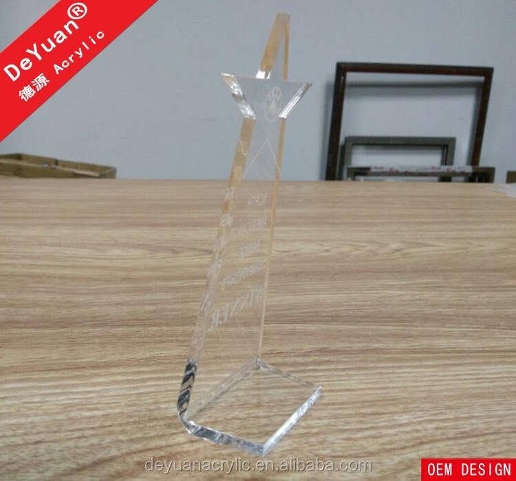 Transparent Crystal Award Wholesale Trophy