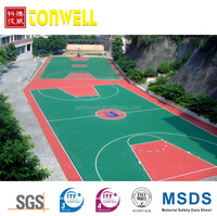 Low maintenance elastic SPU volleyball flooring sport surface
