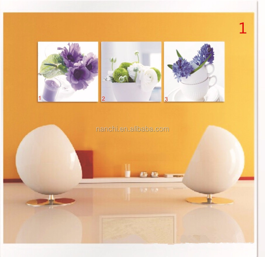 3PCS Paintings flowers for the kitchen restaurant wall decor modern canvas art wall <strong>pictures</strong> for living room decorative