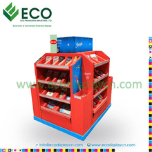 Four sided cardboard display merchandiser , carton pallet display stand for stationery