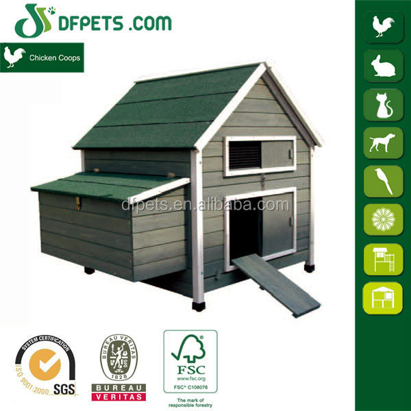 Outdoor Popular Deluxe hen house large backyard wood chicken coop with nest box