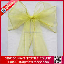 More than 50 color cheap chair cover organza sashes for party and wedding decoration