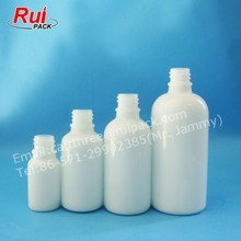 Top quality white jade glass bottle with metal dropper cap, solid white glass bottle